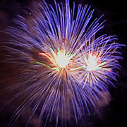 4th July Photo Prints - Purple Flash Print by David Patterson