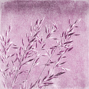 Natural Mixed Media Prints - Purple gras Print by Angela Doelling AD DESIGN Photo and PhotoArt