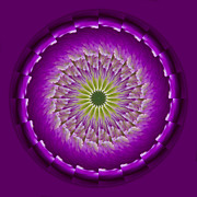 Mandala Photos - Purple Green Mandala by Bill Barber