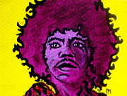 Jimi Hendrix Painting Originals - Purple Haze Day by Pete Maier