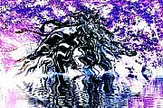Tree Roots Digital Art Prints - Purple Haze Print by Deborah MacQuarrie