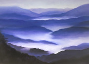 Asheville Pastels Prints - Purple Haze Print by Elise Okrend