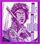 Rock And Roll Prints - Purple Haze Print by Jason Kasper