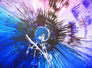 Electric Guitar Painting Originals - Purple Haze by Lance Bifoss
