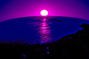 Hawai Digital Art Prints - Purple Haze Print by Ordi Calder