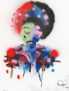 Icons Painting Originals - Purple Haze by Rafael Duncan