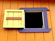 Folk Art Photos - Purple Haze Window by Richard Mansfield