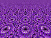 Healing Posters Digital Art Prints - Purple Healing Print by Jeannie Atwater Jordan Allen