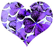 Digitally Altered Prints - Purple Heart Art Print by Kami McKeon