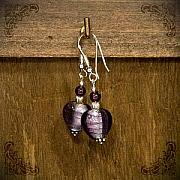 Sterling Silver Jewelry - Purple hearts by Katarzyna Horwat