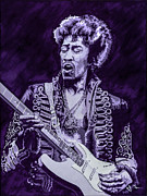 Jimmy Hendrix Paintings - Purple Hendrix by Jim Brown
