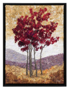 Red Leaves Tapestries - Textiles - Purple Hills 1 by Lorraine Roy