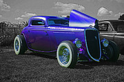 Computer Altered Prints - Purple Hot Rod Print by Randy Harris