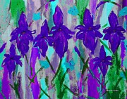 Lavenders Digital Art - Purple Iris by Jamie Frier