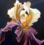 Impressionism Originals - Purple Iris by Micheal Jones