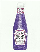 Ketchup Framed Prints - Purple Ketchup Framed Print by Jasmine Norris