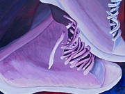Converse Paintings - Purple Kicks by Arianna Stone