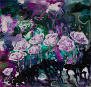 Purple Lava Floral Print by Shelly Leitheiser