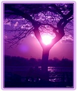 Soulmates Prints - Purple Love Print by Laurence Oliver