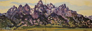 Mountain Range Paintings - Purple Majesty by Patricia A Griffin