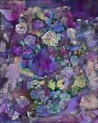Wine Reflection Art Mixed Media Prints - Purple Melody Print by Don  Wright