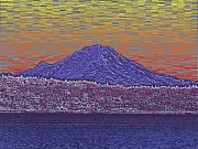 Volcano Digital Art - Purple Mountain Majesty Sunset by Tim Allen