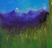 Digital Art Pastels - Purple Mountains by jrr by First Star Art