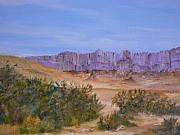 Landscap Painting Originals - Purple Mountains Majesty I by Cheryl Damschen