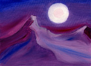 Alizarin Crimson Paintings - Purple Night 2 by Hakon Soreide
