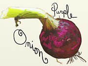 Onion Paintings - Purple Onion by Patti Siehien