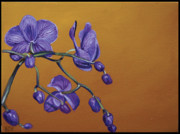 Edward Williams Prints - Purple Orchids Print by Edward Williams