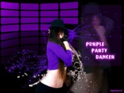 Behind The Scene Mixed Media - Purple Party Dancer by Dan Nita