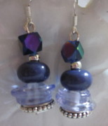 Dangles Jewelry - Purple Passion Dangle Earrings by Janet  Telander