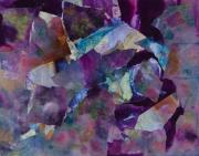 Oil Slick Mixed Media Posters - Purple Passion  Poster by Don  Wright