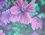 Green Day Painting Prints - Purple Passion  Print by Judy Groves
