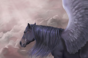 Digital Paintings - Purple pegasus by Kate Black