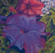 Miniature Pastels - Purple Petunia by Sandra Lynn