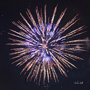 Purple Fireworks Prints - Purple Pizazz Print by Suzanne Gaff