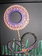 Raffia Sculptures - Purple Posey by Beth Lane Williams