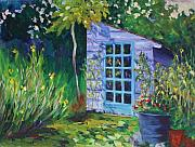 Shed Paintings - Purple Potting Shed by Tara Moorman