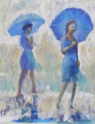 Gertrude Palmer Metal Prints - Purple Rain Metal Print by Gertrude Palmer