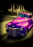 Yellow Paint Framed Prints - Purple Ride Framed Print by Perry Webster
