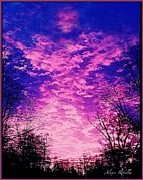 Alexis Rotella Posters - Purple Sky Poster by Alexis Rotella