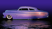 Historic Vehicle Prints - Purple Sled Print by Bill Dutting