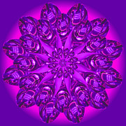 Linda Pope Metal Prints - Purple Spoonz Metal Print by Linda Pope