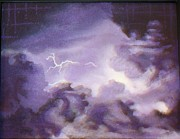 Lighning Painting Prints - Purple Storm Print by James Francis