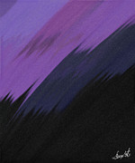 Black Glass Art Originals - Purple Sunrise by Lance  Kelly