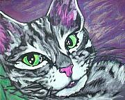 Cats Originals - Purple Tabby by Sarah Crumpler