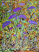 Purple Tulip Garden Print by Sue Holman