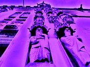 Belgium Digital Art - Purple Views of Bruges by C Lythgoe